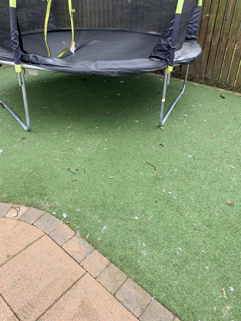 pressure washing artifical grass