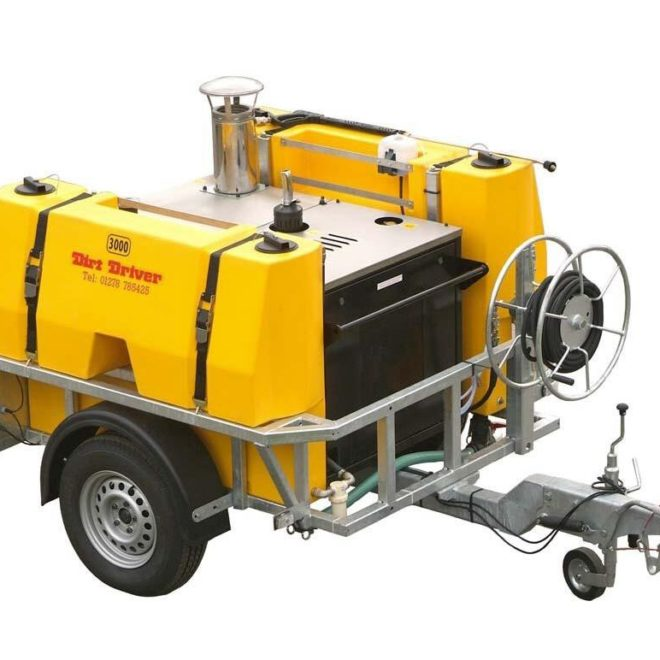 Dirt Driver Saddle Trailer Pressure Washer