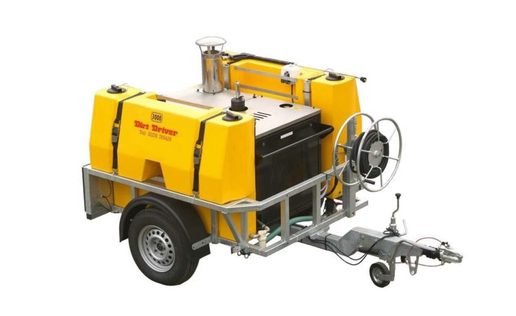 Dirt Driver Saddle Trailer Pressure Washer